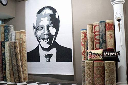 Mandela Abstract mat