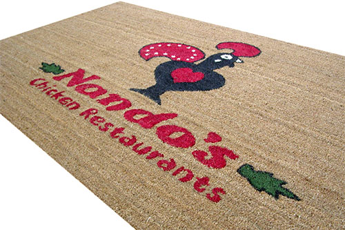 coir logo mat/ branded mat