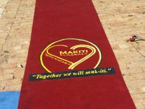 makiti funerals event or promotional mat