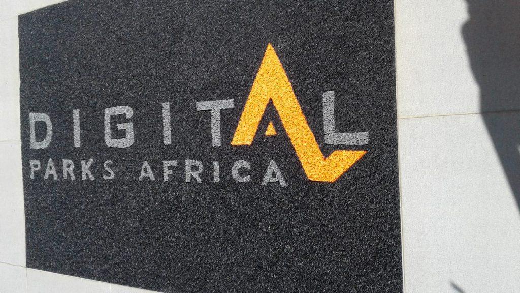 digital arfrica branded mat made from vinyl looped mat