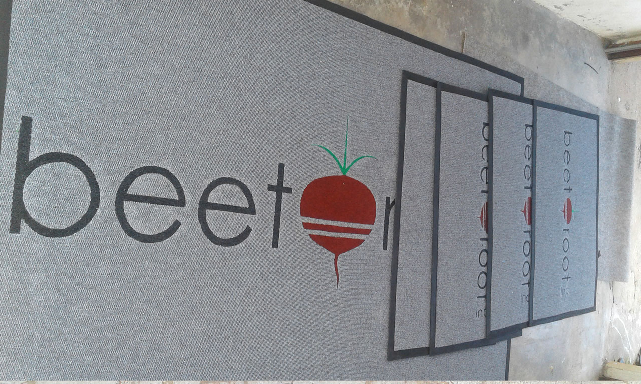 beetroot logo /promotional/entrance mat