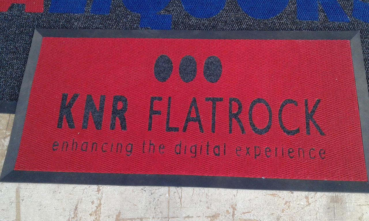 knr flatrock logo mat