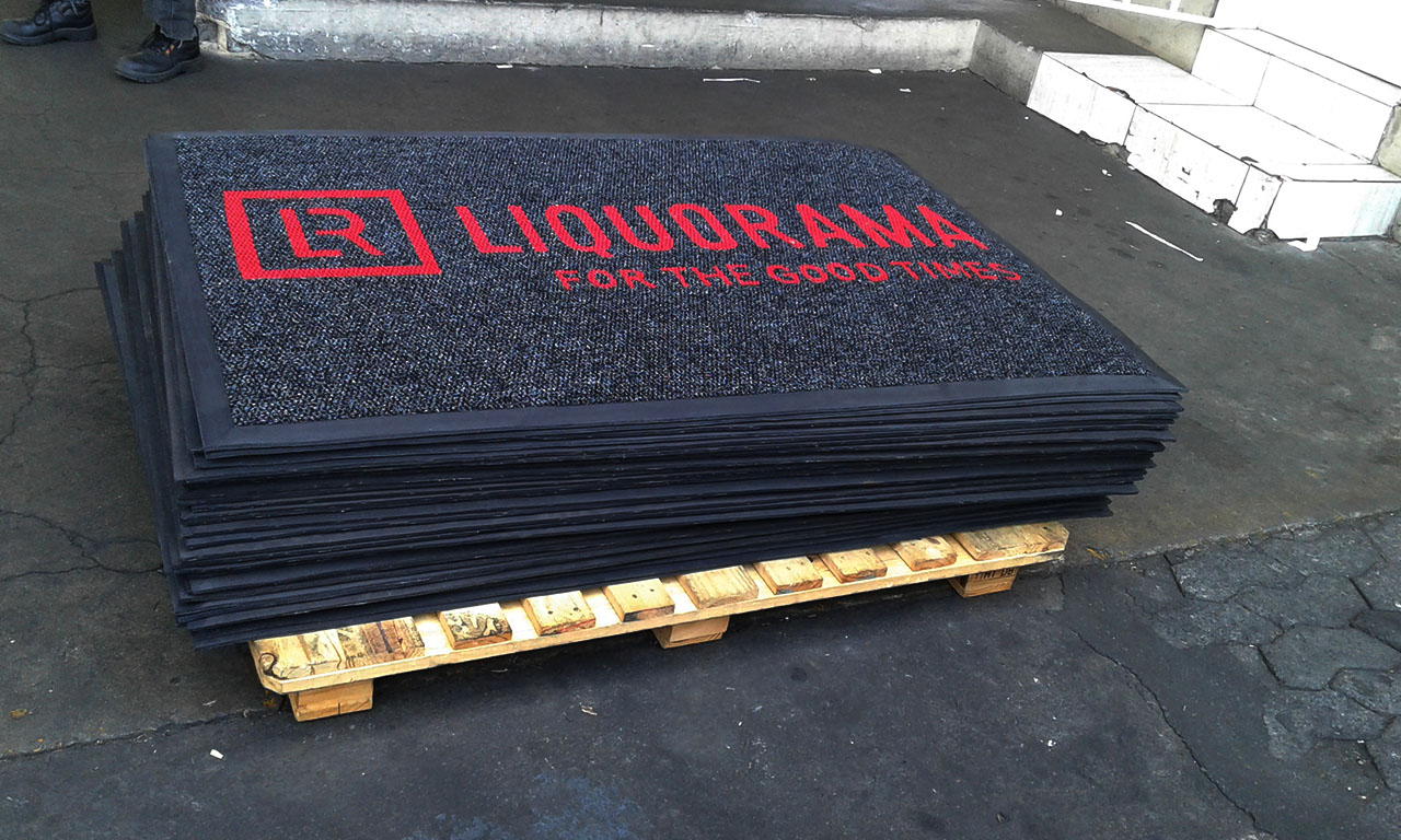 liquorama logo mats ready for delivery