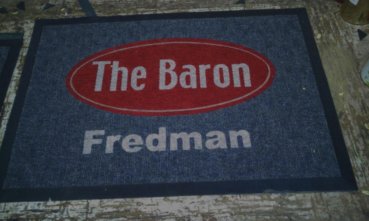 the baron logo mat