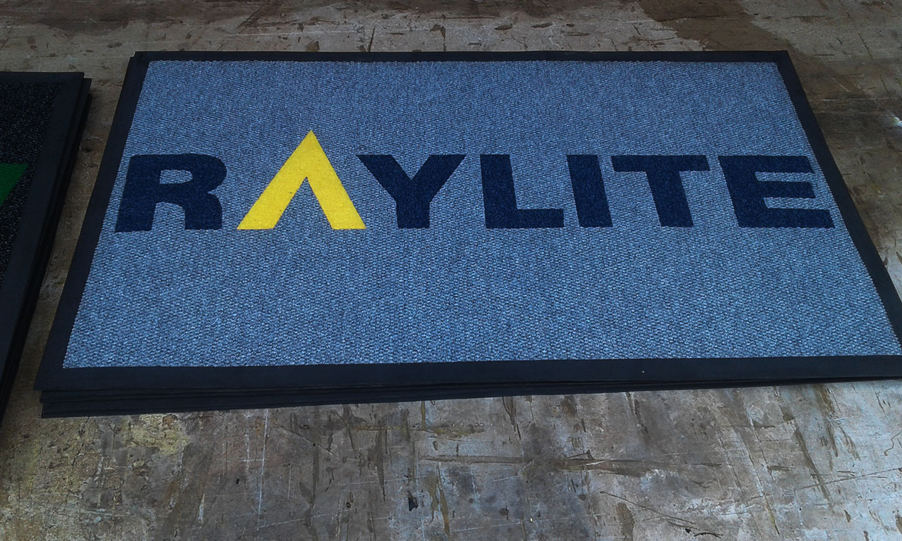 raylite logo or branded mat