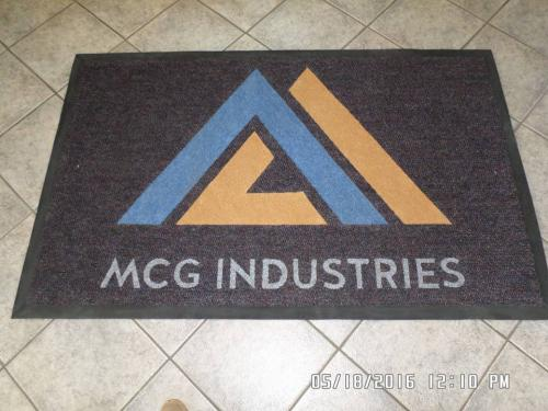 mcg industries logo mat/ promotional mat