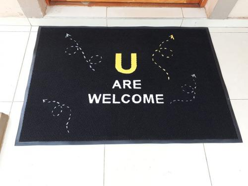 U are welcome logo mat/branded mat