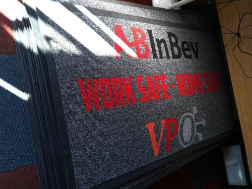 abindev entrance mats / branded mats ready for delivery