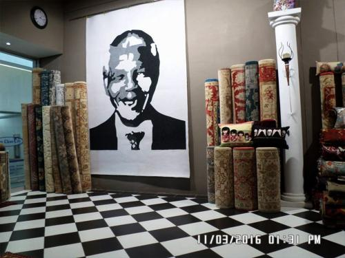mandela on abstract mat