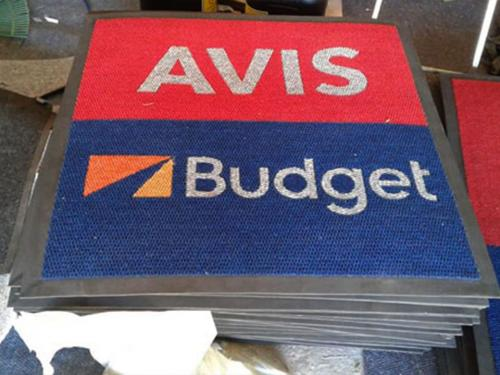 avis budget logo mats ready for delivery