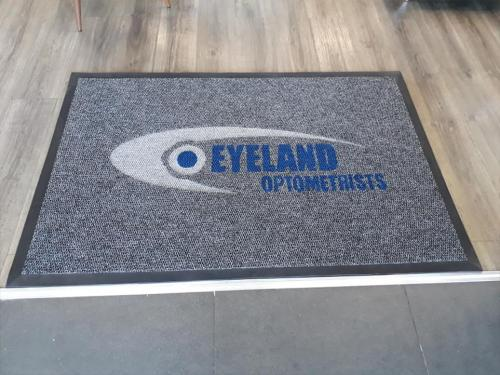 eyeland optometrists logo mat