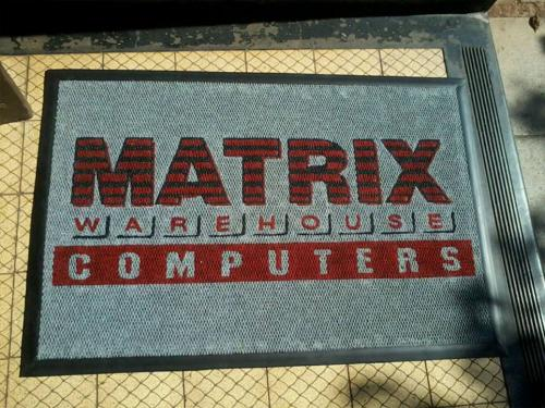 matrix warehouse berberpoint logo mat