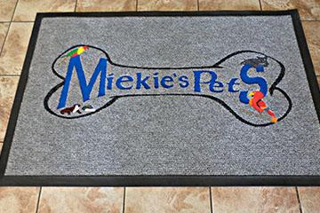mielie pets logo mat/ branded mat