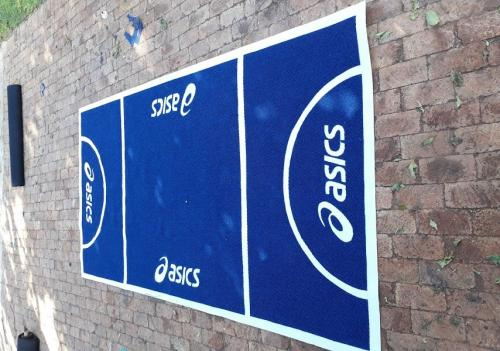 promotional mat for asics