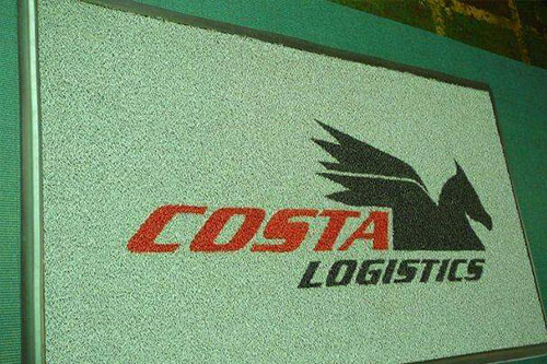 costa logistics logo mat made from spaghetti/cushion fall/ super contract